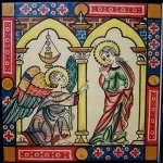 """s.XII Arte Románico - Monasterio de El Escorial en Madrid - Cantigas de Sta. Maria """"Anunciación a Maria"""""""